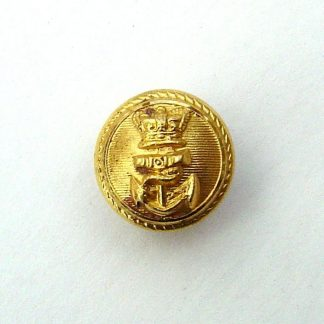 ROYAL NAVY QVC 16mm Gilt Officer's Button - roped edge lined background.