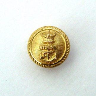 ROYAL NAVY QVC 18 mm Gilt Officer's Button