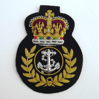 ROYAL NAVY QC Bullion Wire Embroidered Blazer Badge