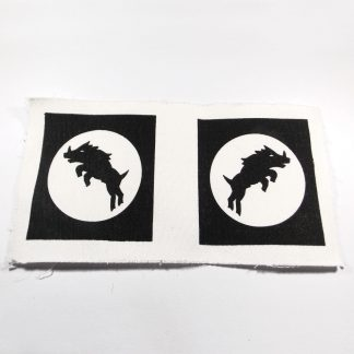 30th CORPS cloth formation badge, printed black on white, reproduction