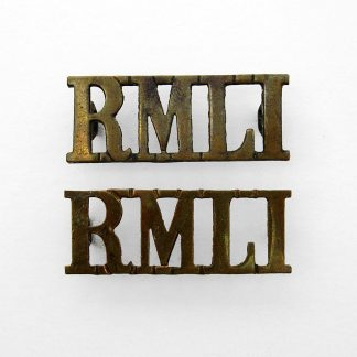 ROYAL MARINE LIGHT INFANTRY OR'S G/M Shoulder titles 'RMLI', original (pair)