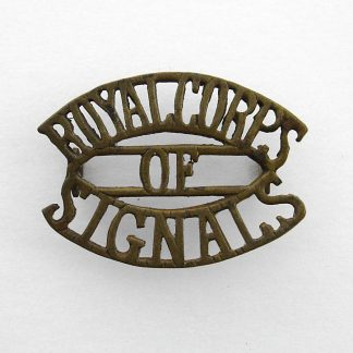 ROYAL CORPS of SIGNALS 3-Line brass shoulder title