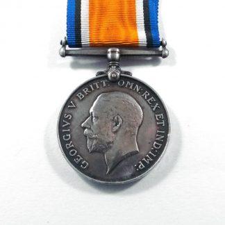 1914-18 BRITISH WAR MEDAL Impressed '292767 PTE W. F. DEAN. MIDDX R.