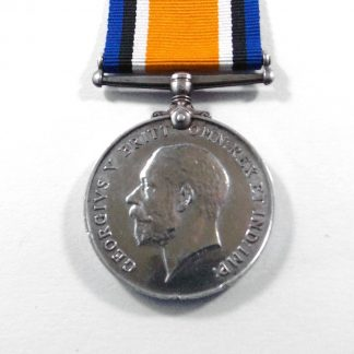 1914-18 BRITISH WAR MEDAL Impressed 020570 PTE F.W.HOUSEDEN, A.O.C.