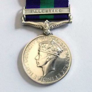 Army G.S.M. 1918-62, clasp Palestine 7262443 PTE. R. TURRELL  R.A.M.C.