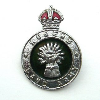 WOMEN'S LAND ARMY KC OR'S CAP BADGE - enamel and nickle plate, with broach fixing.