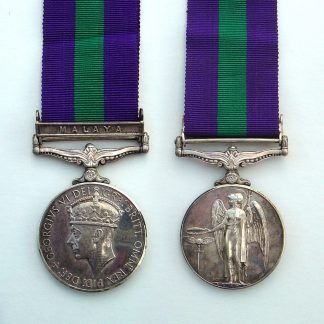 Army General Service Medal 1918-62 GRVI clasp MALAYA - SIG.MN A.F.JONES, R.SIGS.