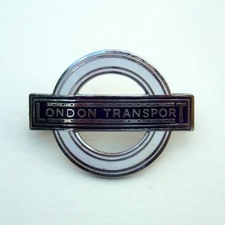 LONDON TRANSPORT curved Blue and White Enamel, cap badge