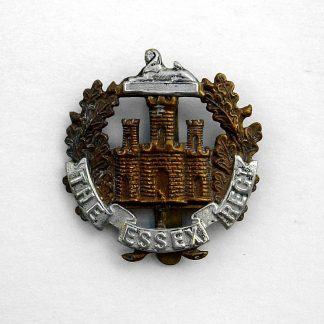 ESSEX REGIMENT Territorial battalion Blank Scroll bi/metal cap badge