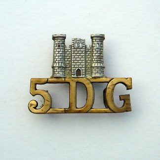 5th ROYAL INNISKILLING DRAGOON GUARDS bi-metal shoulder title