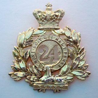 ZULU WARS 24th FOOT OFFICER'S Gilt SHAKO PLATE QVC