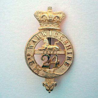 ZULU WARS 24th FOOT NCO'S GILT GLENGARRY BADGE QVC
