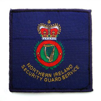 Northern Ireland Security Guard Service Cloth Patch - Used