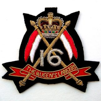 The 16th The Queen's Lancers Bullion Embroidered Blazer badge