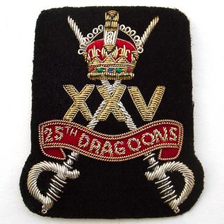 The 25th Dragoons Bullion Embroidered Blazer badge