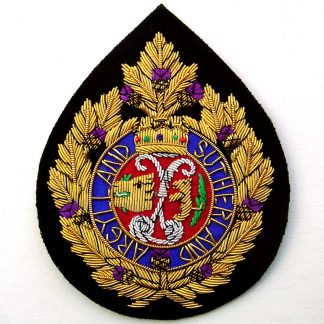 The Argyll and Sutherland Highlanders Bullion Embroidered Blazer badge