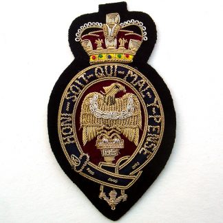 The Blues and Royals (Royal Horse Guards and 1st Dragoons) Bullion Embroidered Blazer badge