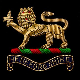 The Herefordshire Territorials Bullion Embroidered Blazer badge