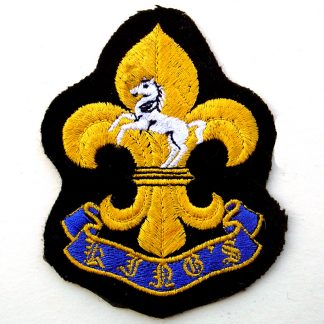 The King's Regiment Bullion Embroidered Blazer badge