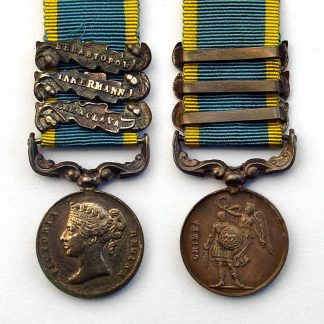 Miniature Crimea Medal Three Clasps Sebastopol, Inkerna & Balaclava