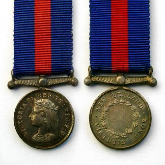 Miniature NEW ZEALAND MEDAL Undated on Reverse