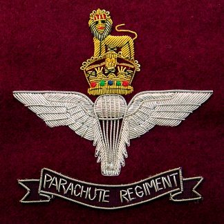 The Parachute Regiment Bullion Embroidered Blazer badge