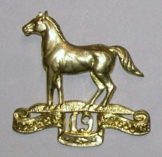 19th ALBERTA DRAGOON g/m OR's cap badge